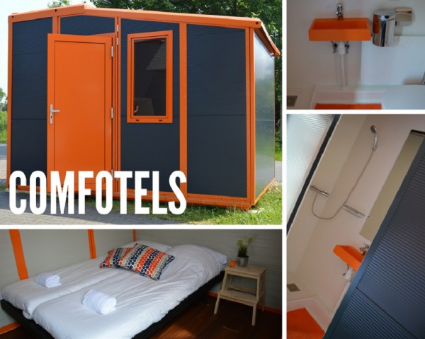 Comfotel with toilet and shower.